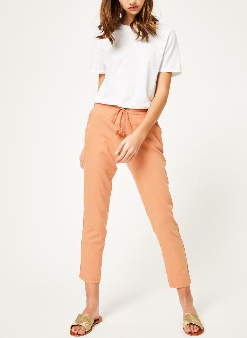 Vêtements Kanopé Pantalon celestine coton Rose vue bas / vue portée sac