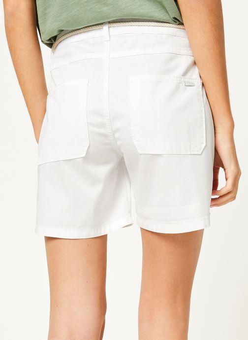 Vêtements Kanopé Short cara toile Blanc vue portées chaussures