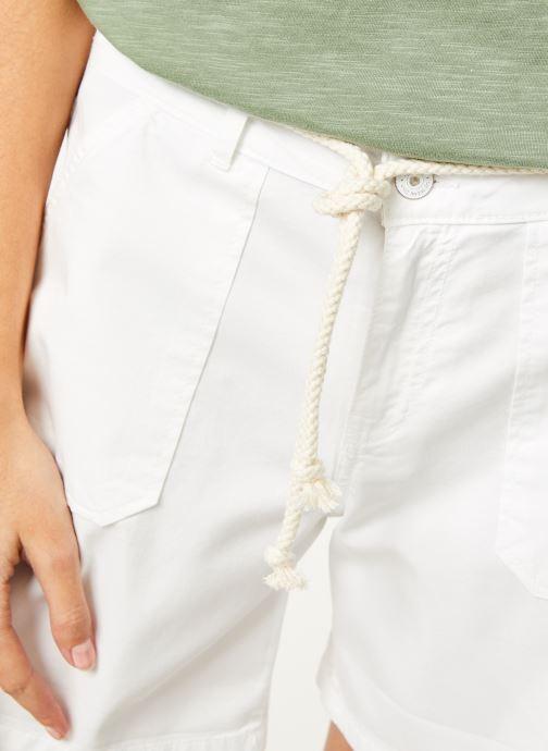 Vêtements Kanopé Short cara toile Blanc vue face