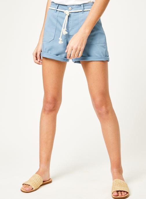 Vêtements Kanopé Short cara toile Bleu vue détail/paire
