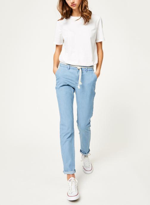 Vêtements Kanopé Pantalon dahlia denim leger Bleu vue bas / vue portée sac