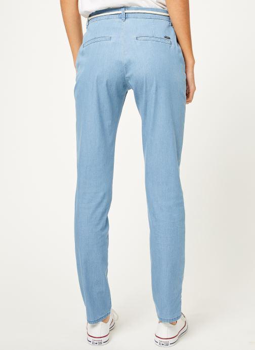 Vêtements Kanopé Pantalon dahlia denim leger Bleu vue portées chaussures