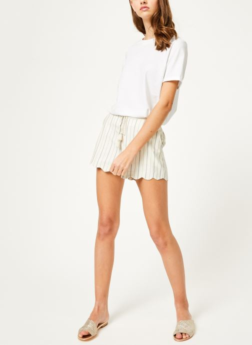 Vêtements Kanopé Short louison rayure Blanc vue bas / vue portée sac