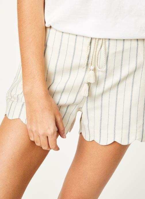 Vêtements Kanopé Short louison rayure Blanc vue face