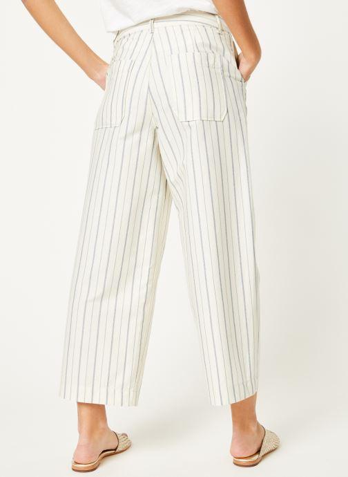 Vêtements Kanopé Pantalon eloise rayure Blanc vue portées chaussures