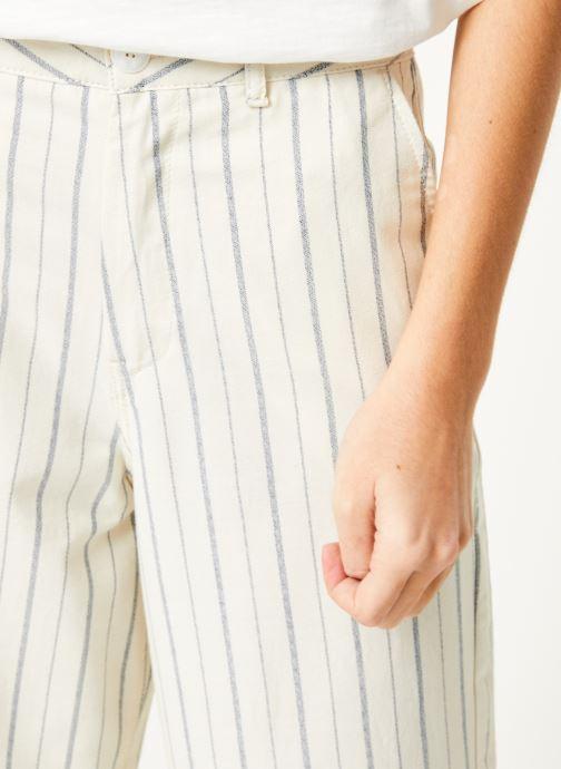 Vêtements Kanopé Pantalon eloise rayure Blanc vue face