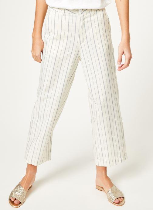 Vêtements Kanopé Pantalon eloise rayure Blanc vue détail/paire