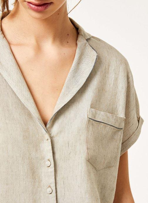 Vêtements Kanopé Chemise appoline marrakech Beige vue face