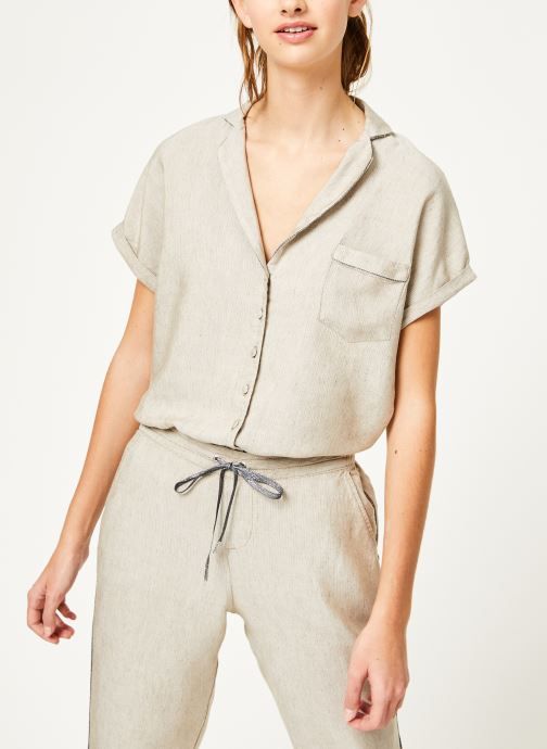 Vêtements Kanopé Chemise appoline marrakech Beige vue droite