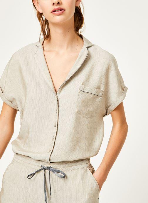 Vêtements Kanopé Chemise appoline marrakech Beige vue détail/paire