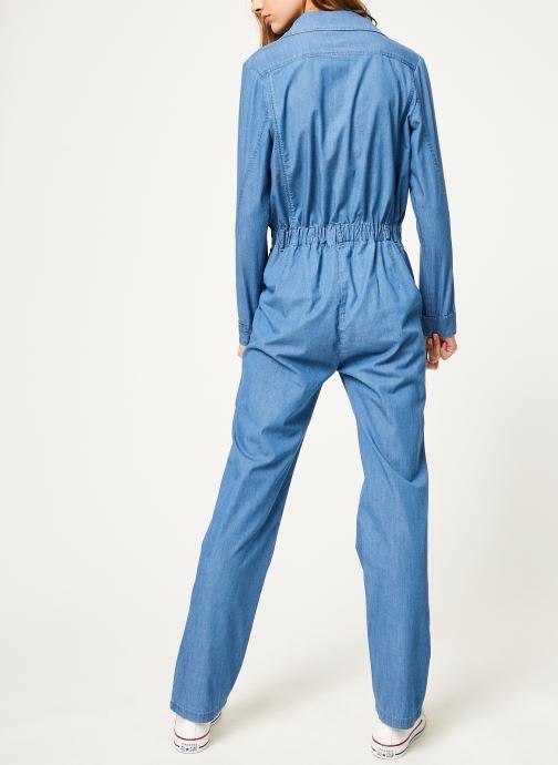 Vêtements Kanopé Combinaison colombe denim 250 Bleu vue portées chaussures
