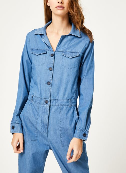 Vêtements Kanopé Combinaison colombe denim 250 Bleu vue droite