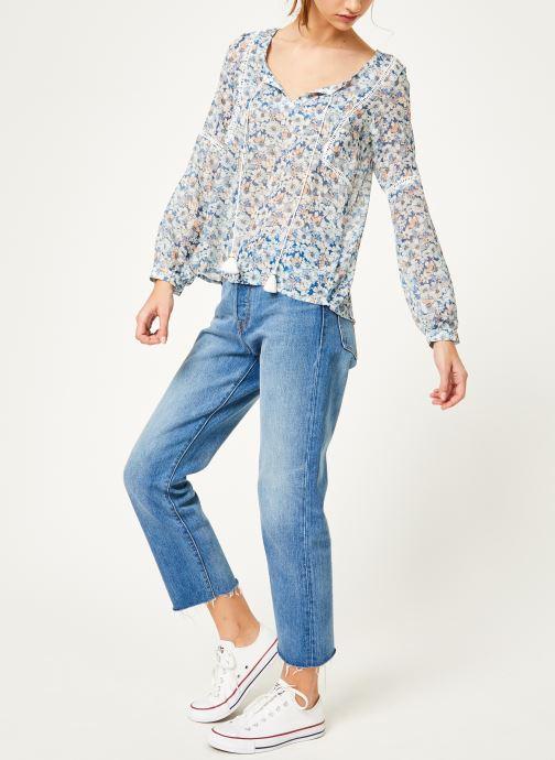 Vêtements Kanopé Chemise dolores fleur Bleu vue bas / vue portée sac