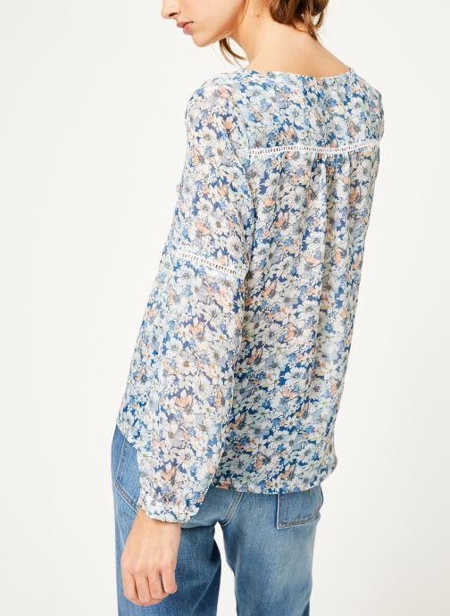 Vêtements Kanopé Chemise dolores fleur Bleu vue portées chaussures