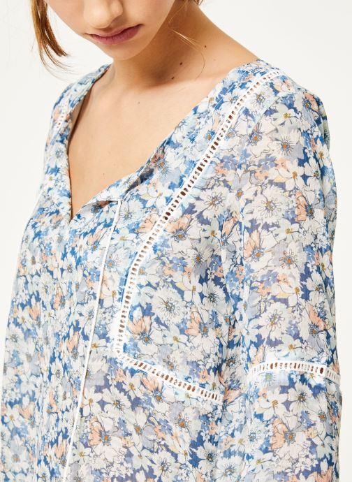 Vêtements Kanopé Chemise dolores fleur Bleu vue face