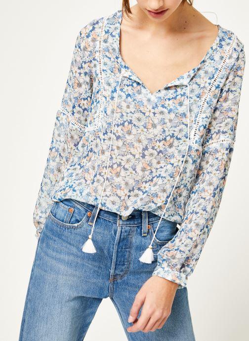 Vêtements Kanopé Chemise dolores fleur Bleu vue détail/paire