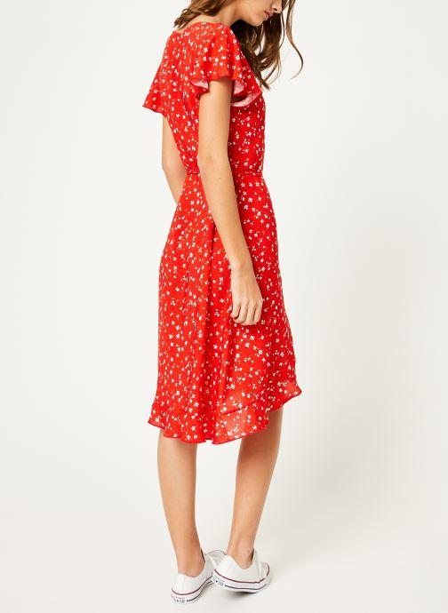 Vêtements Kanopé Robe rosalie geranium Rouge vue portées chaussures