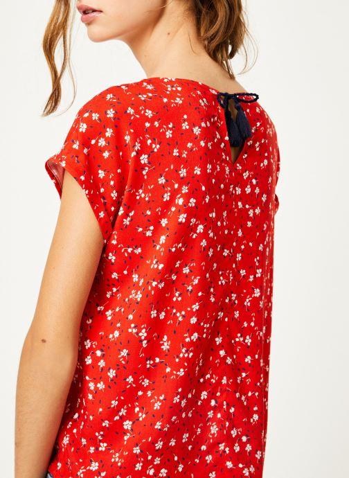Vêtements Kanopé Top lucie geranium Rouge vue face