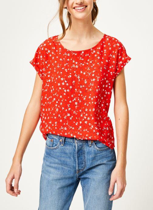 Vêtements Kanopé Top lucie geranium Rouge vue droite