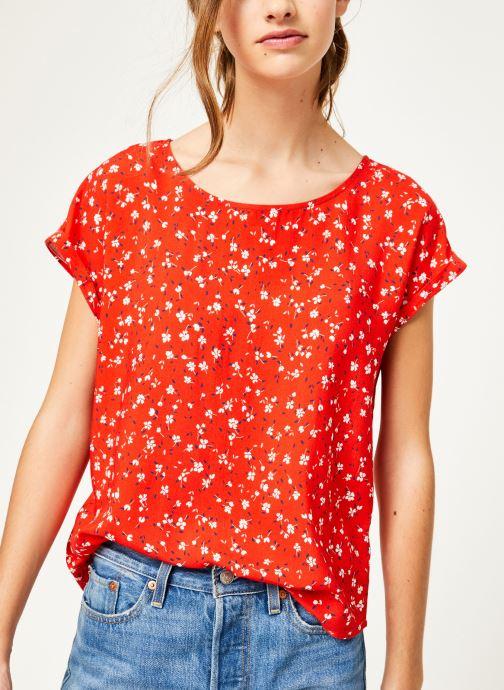 Vêtements Kanopé Top lucie geranium Rouge vue détail/paire