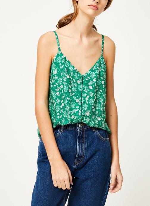 Vêtements Kanopé Top hortense palmier Vert vue droite