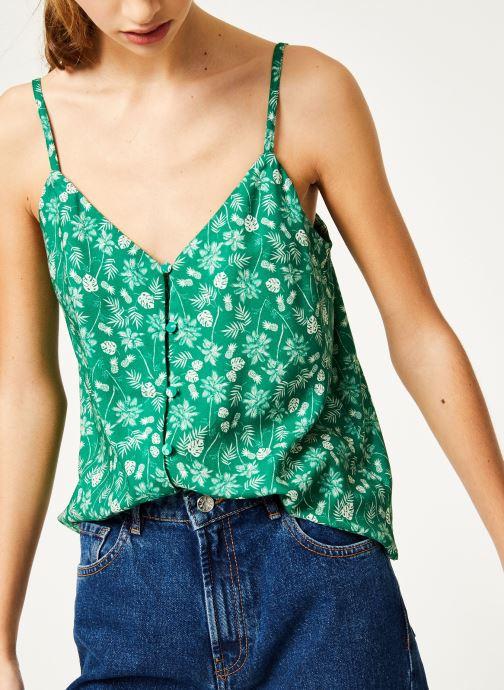 Vêtements Kanopé Top hortense palmier Vert vue détail/paire