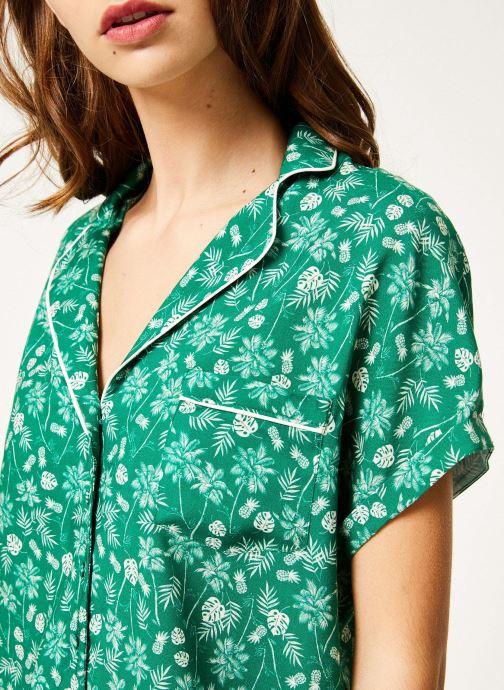Vêtements Kanopé Chemise appoline palmier Vert vue face