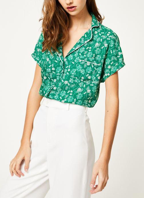 Vêtements Kanopé Chemise appoline palmier Vert vue droite