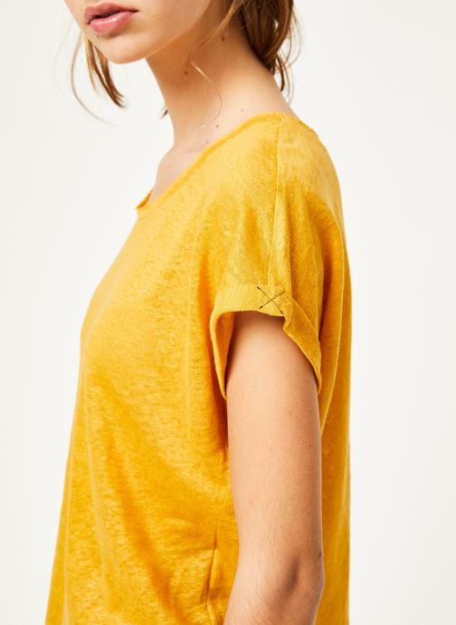Kleding Kanopé Tshirt grethel Geel voorkant
