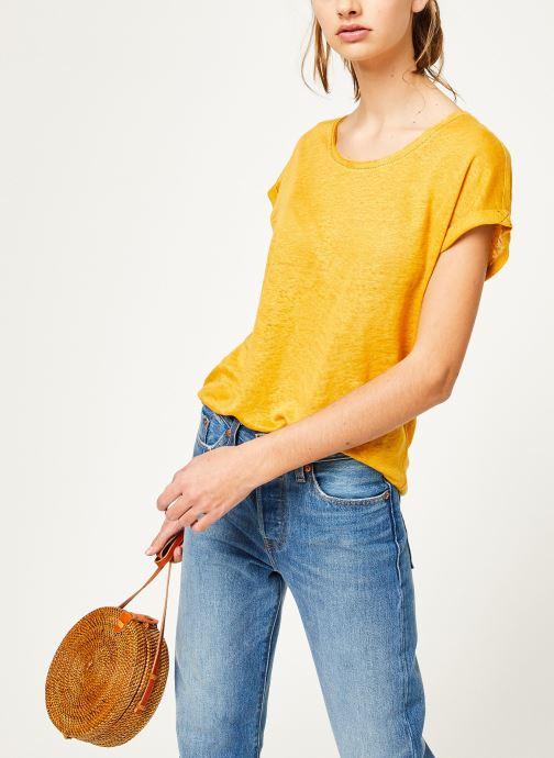 Kleding Kanopé Tshirt grethel Geel detail
