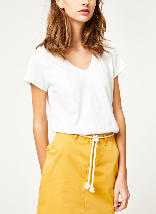 Vêtements Kanopé Tshirt guillemette Blanc vue droite
