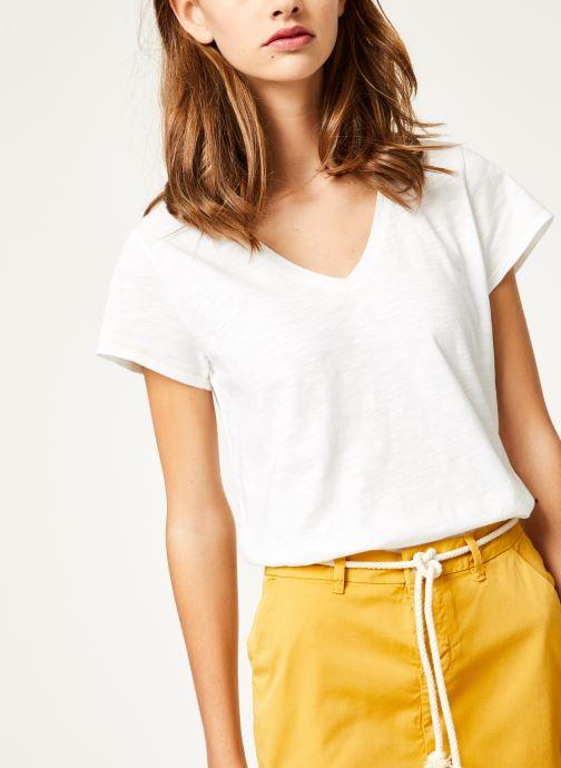 Vêtements Kanopé Tshirt guillemette Blanc vue détail/paire