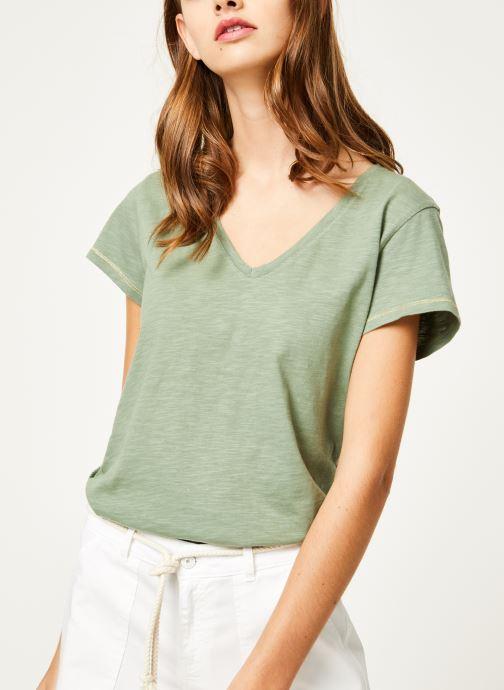 Vêtements Kanopé Tshirt guillemette Vert vue détail/paire