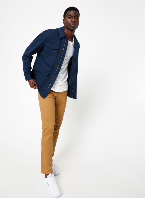 Vêtements Hackett London HERRINGBONE  FIELD JKT Bleu vue bas / vue portée sac