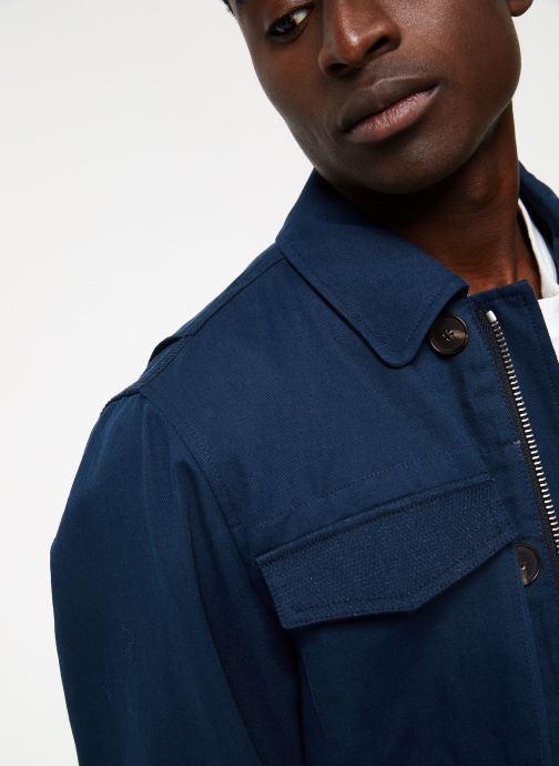 Vêtements Hackett London HERRINGBONE  FIELD JKT Bleu vue face