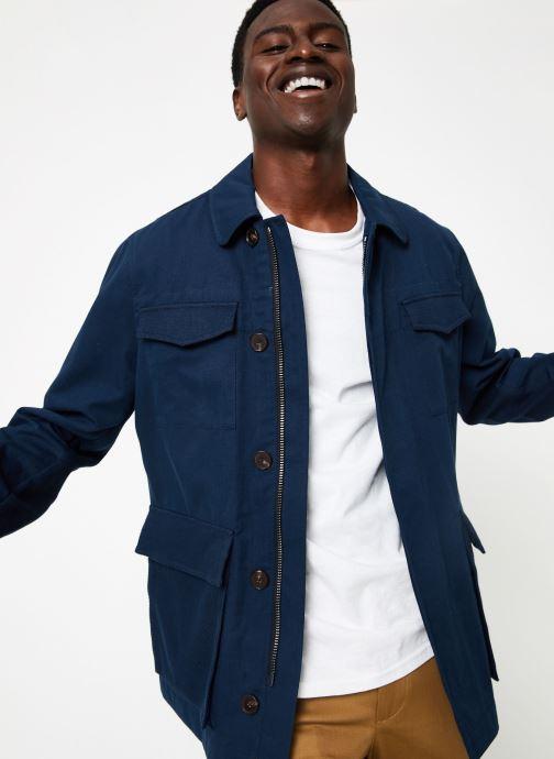 Vêtements Hackett London HERRINGBONE  FIELD JKT Bleu vue détail/paire
