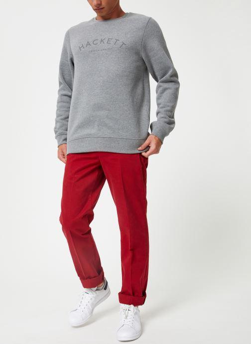 Vêtements Hackett London CLASC LOGO CREW Gris vue bas / vue portée sac