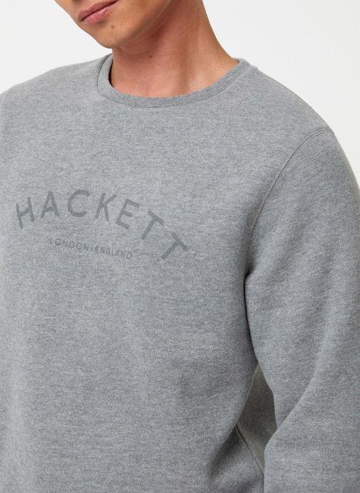 Vêtements Hackett London CLASC LOGO CREW Gris vue face