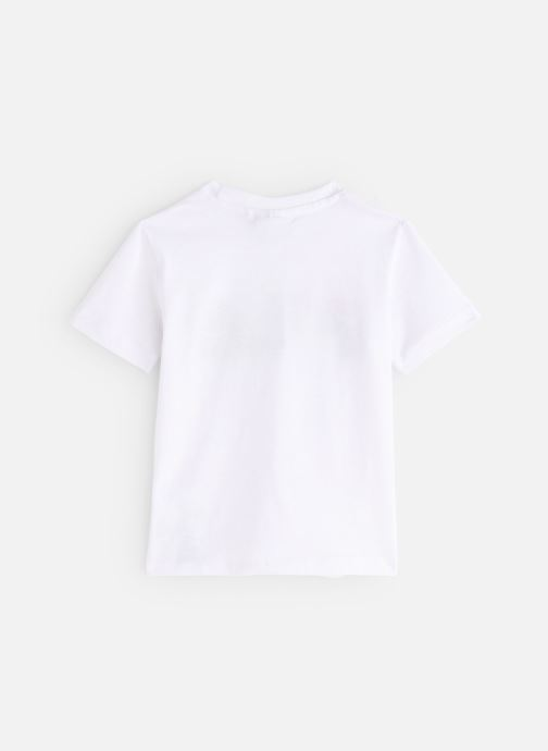 Vêtements FILA CLASSIC Logo Tee Blanc vue bas / vue portée sac