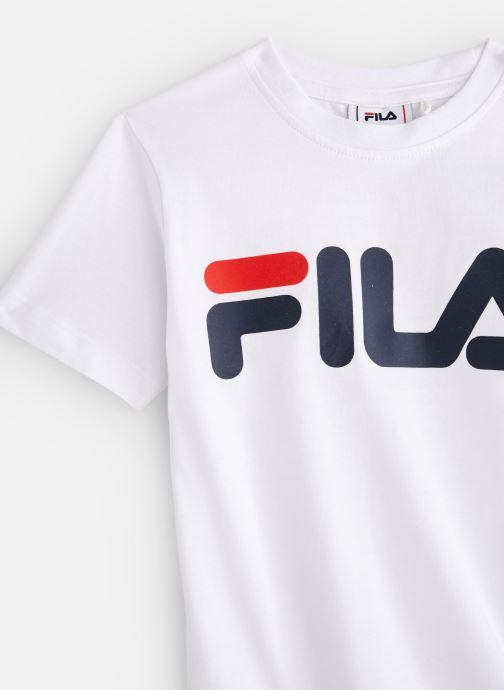 Vêtements FILA CLASSIC Logo Tee Blanc vue portées chaussures