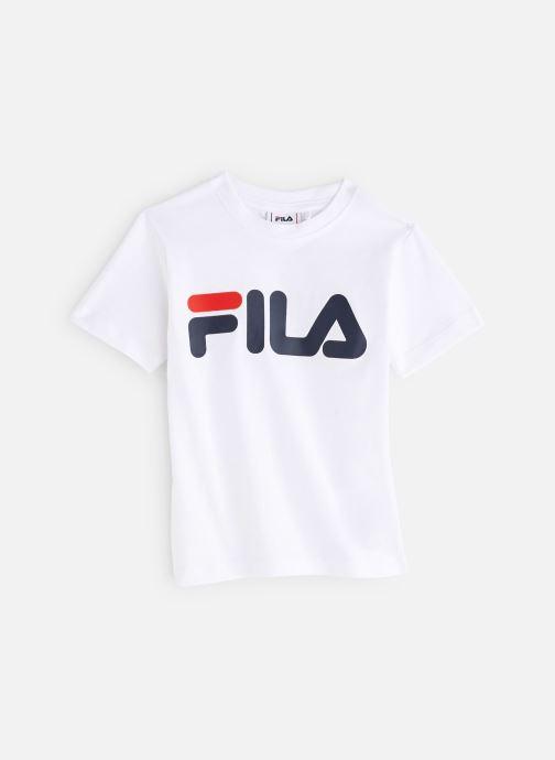 Vêtements FILA CLASSIC Logo Tee Blanc vue détail/paire