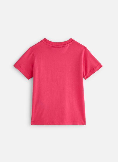 Vêtements FILA CLASSIC Logo Tee Rose vue bas / vue portée sac