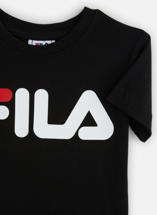 Vêtements FILA CLASSIC Logo Tee Noir vue portées chaussures