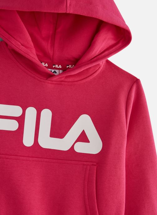 Vêtements FILA CLASSIC Logo Hoody Rose vue portées chaussures