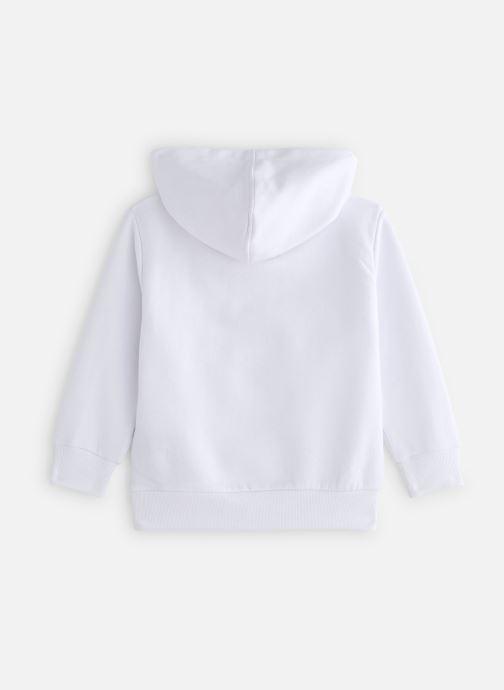 Vêtements FILA CLASSIC Logo Hoody Blanc vue bas / vue portée sac