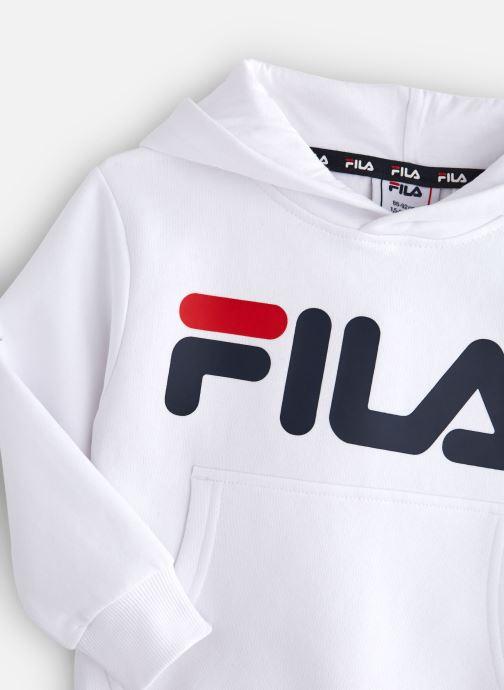 Vêtements FILA CLASSIC Logo Hoody Blanc vue portées chaussures