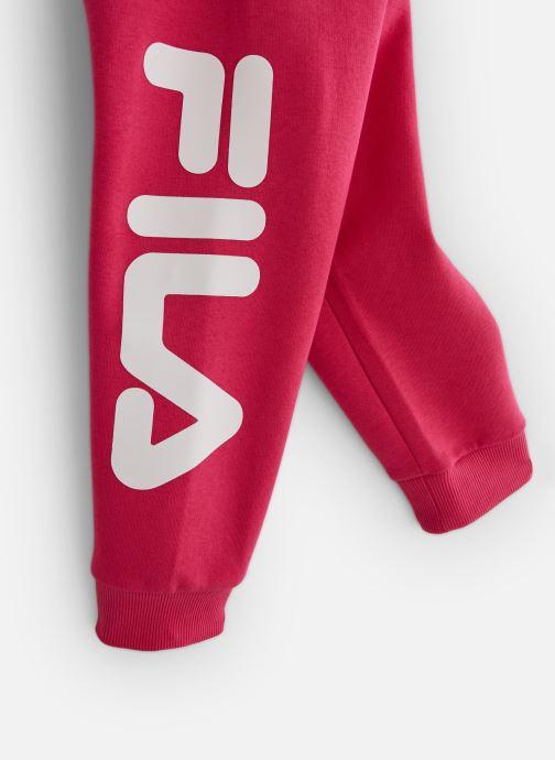 Vêtements FILA CLASSIC Logo Pants Rose vue portées chaussures