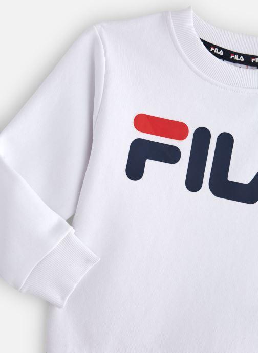 Vêtements FILA CLASSIC Logo Crew Shirt Blanc vue portées chaussures
