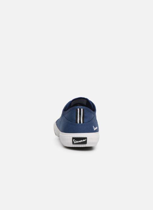 Baskets Vespa Valvola Bleu vue droite