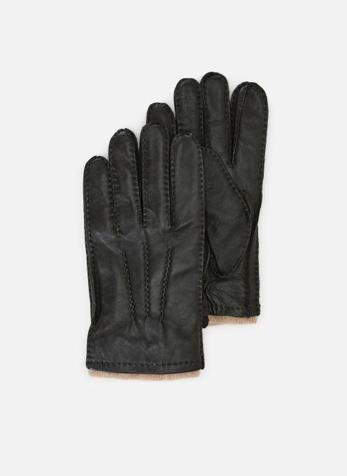 Gloves Monoprix Homme Gant cuir fourrée Black detailed view/ Pair view